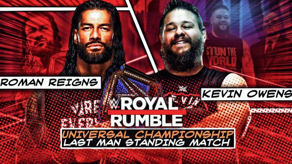 Roman Reigns vs Kevin Owens Live